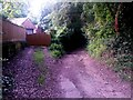 SZ0895 : Redhill: rear garages accessed from Sandy Way by Chris Downer
