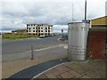 TA2047 : Pennine Trail stainless steel marker at the end of the Hornsea Rail Trail by Steve  Fareham