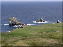 HT9541 : The north of Foula from the ridge of Soberlie by Julian Paren