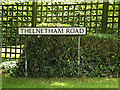 TM0179 : Thelnetham Road sign by Adrian Cable