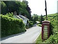 SN9780 : Telephone box at Tylwch by Christine Johnstone