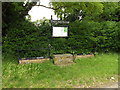TM0178 : Thelnetham Village sign & Notice Board by Adrian Cable