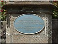 NS3982 : Centenary plaque at Balloch Park by Lairich Rig