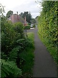 SZ0895 : Redhill: footpath O24 approaches Park Lane by Chris Downer