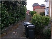 SZ0995 : Moordown: looking up footpath M14 by Chris Downer