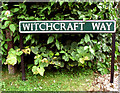 TG2813 : Witchcraft Way (road sign) by Evelyn Simak