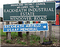 TG2713 : Wendover Road (road sign) by Evelyn Simak