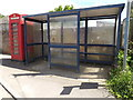 TL9978 : Telephone Box & Bus Shelter by Adrian Cable