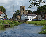 TF5002 : St Peter's church and the River Nene in Upwell by Mat Fascione
