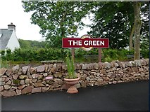 SD1499 : The Green station sign by Graham Hogg