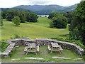 NY3701 : The terrace at Wray Castle by Graham Hogg
