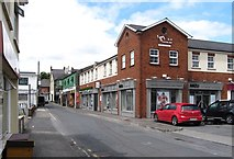 J0407 : Businesses in River Lane, Dundalk by Eric Jones
