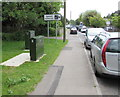 SU2902 : Telecoms cabinets and speed cameras sign, Sway Road, Brockenhurst by Jaggery
