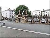 J0407 : The main gate of St Patrick Church, Dundalk by Eric Jones