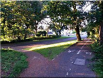 SZ1193 : Queen's Park: footpaths K42 and K43 don't quite meet by Chris Downer