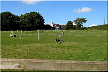 SO6031 : Roped-off field near Maythorn Farm, Brockhampton by Jaggery