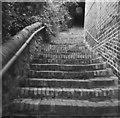 SJ6703 : Steps to Ironbridge church by John Winder