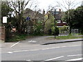 SO9221 : Cycle route and footpath viewed across Gloucester Road, Cheltenham by Jaggery