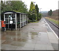 SO7542 : Passenger shelter and Permit to Travel machine, Colwall railway station by Jaggery