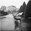 SE2045 : Flooded benches in Otley park by John Winder