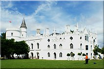 TQ1572 : View of Strawberry Hill House from the grounds #7 by Robert Lamb