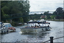 TQ1673 : View of Merrie Thames passing under the footbridge to Eel Pie Island from The Embankment #2 by Robert Lamb