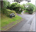 SN1203 : Silver Jubilee bench in New Hedges, Pembrokeshire by Jaggery