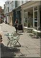 ST5545 : Outdoor tables, Wells Market Place by Derek Harper