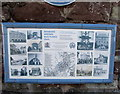 SO5012 : Monmouth Heritage Blue Plaque Trail information board by Jaggery