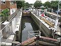 TQ1777 : Maintenance work at Thames Lock by David Hawgood