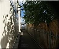 TQ1572 : View down the path next to Strawberry Hill station by Robert Lamb