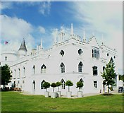 TQ1572 : View of Strawberry Hill House from the grounds #6 by Robert Lamb