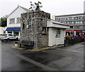 SN1304 : Harbourside bench and clock, Saundersfoot by Jaggery