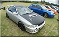 TQ5583 : View of a Subaru Impreza Sport in Havering Mind's Wings and Wheels event at Damyns Hall Aerodrome by Robert Lamb
