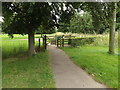 TL9877 : Entrance to Market Weston Village Green by Adrian Cable