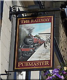 SD9927 : Sign for the Railway public house, Hebden Bridge by JThomas