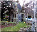 SH8479 : Side view of the lychgate at the entrance to St John's Churchyard, Colwyn Bay by Jaggery