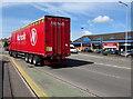 ST3090 : Nicholls Transport articulated lorry, Malpas Road, Newport by Jaggery