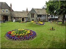 SP0343 : Gardens in front of the Almonry by Philip Halling