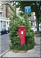 TQ2785 : Victorian postbox with foliage, South Hill Park by Julian Osley