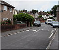 ST3487 : Speed bumps and satellite dishes, Liswerry Road, Alway, Newport by Jaggery