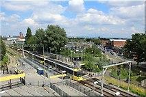 SJ8195 : Old Trafford metrolink station by Richard Hoare