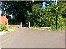SZ0795 : East Howe: Merryfield Lane from Kinson Road by Chris Downer