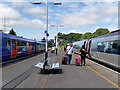 SU4112 : Southampton Central Station Platforms 2 and 3 by David Dixon