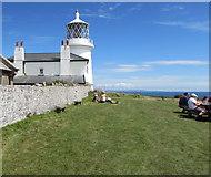 SS1495 : Caldey Island lighthouse by Jaggery