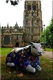 SJ3350 : Lamb of God, St Giles' Wrexham by Matt Harrop