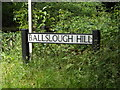 TL1716 : Ballslough Hill sign by Adrian Cable