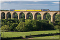 SJ2841 : Network Rail Test Train on Cefn Viaduct by Ian Capper