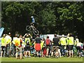 SE2935 : Leeds Skyride 2016 - stunt cycling by Stephen Craven