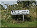 TM0480 : South Lopham Village Name sign by Adrian Cable